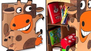 Craft Ideas with Boxes - Cardboard Cabinet Cow | DIY on BoxYourSelf