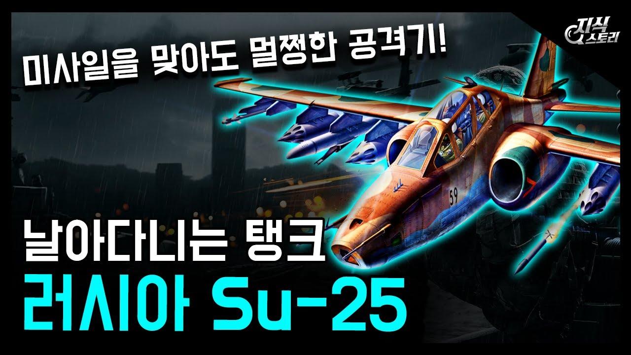 """러시아의 날아다니는 탱크 """"Su-25"""" / 미사일을 맞아도 끄떡없는 괴물 공격기! [지식스토리]"""