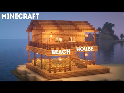 How to build: Beach House | Minecraft Tutorial