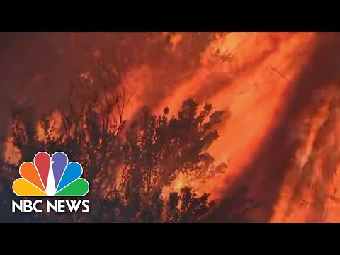 Powerful Wind Fuels California Wildfires, Tens Of Thousands Evacuate | NBC Nightly News
