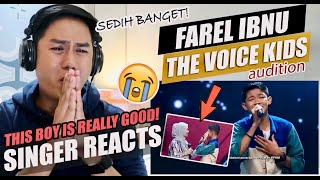 SINGER REACTS to Farel Ibnu - Ummi Tsumma Ummi | Blind Auditions | The Voice Kids Indonesia Season 4