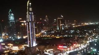 DUBAI Burj khalifa night view Distinction Tower