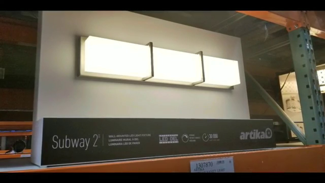 Costco Artika Subway 2 Vanity Light 49 Youtube