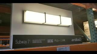costco artika subway 2 vanity light 49