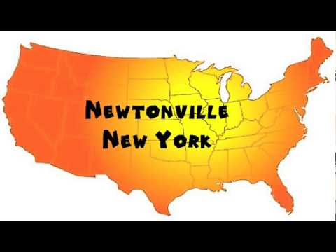 How to Say or Pronounce USA Cities — Newtonville, New York