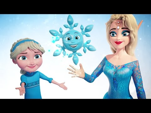 FROZEN Snowflake Song | New Science Learning Song + Video in Frozen Land