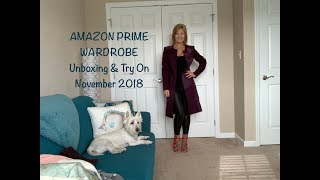 Amazon Prime Wardrobe - November 2018:  Unboxing & Try On...Bootie & Outerwear Haul