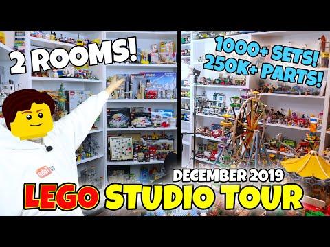 LEGO Studio Tour - My 2 LEGO Rooms (Full Tour) - December 2019