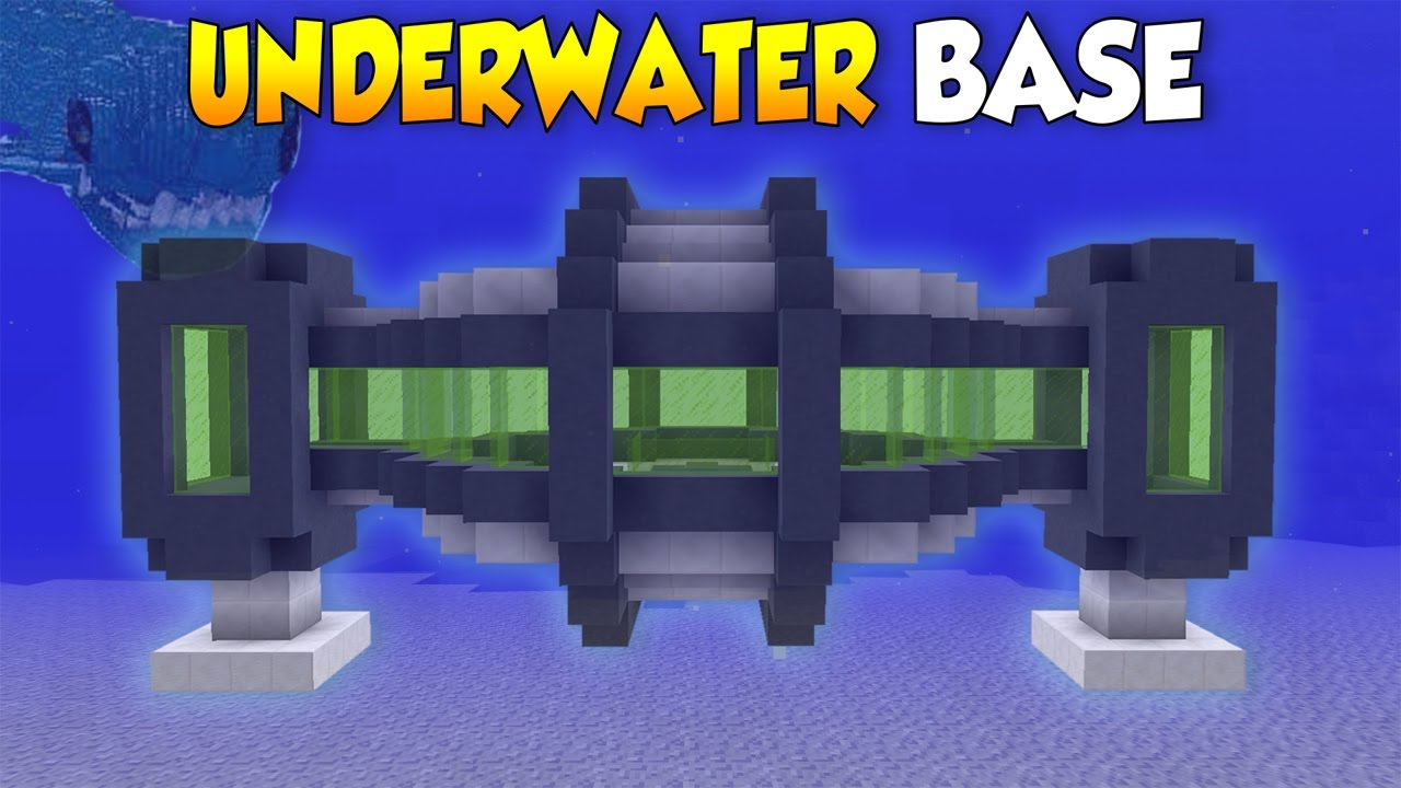 Minecraft How To Build A Secret Underwater House Base Tutorial