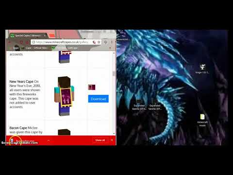 how to get free minecraft cape and DeadMau5 Ears 2018