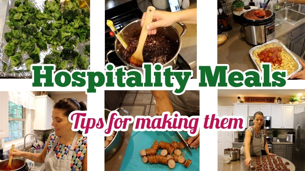 Making food for someone else | HOSPITALITY MEAL TIPS