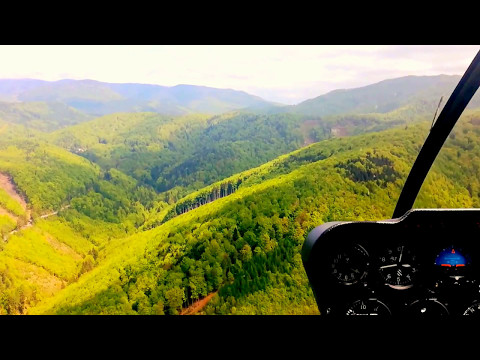R44  flight over the forest (slovakia)