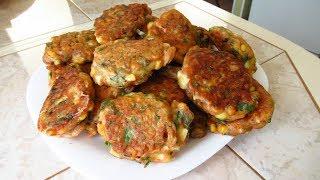 Ленивые пышные и жареные пирожки с луком и яйцом или пышные оладьи