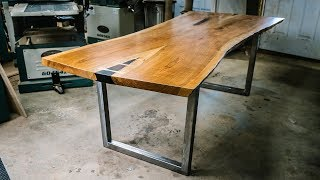 The Martin Table | Live Edge Bookmatched Cherrry Dining Table