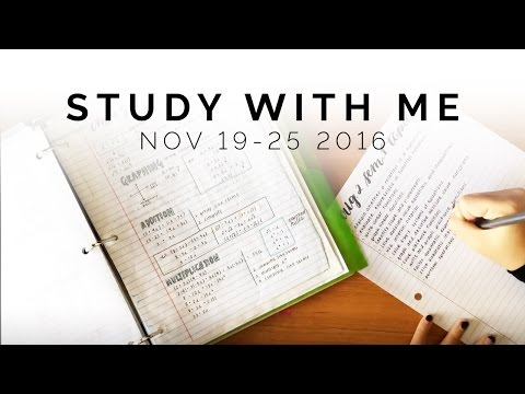 Study With Me: November 19 - 25, 2016 - YT