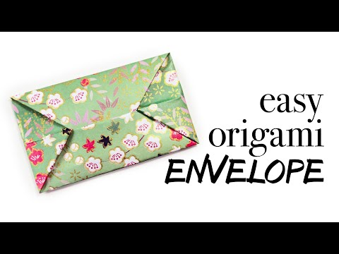 Easy Origami Envelope Tutorial DIY
