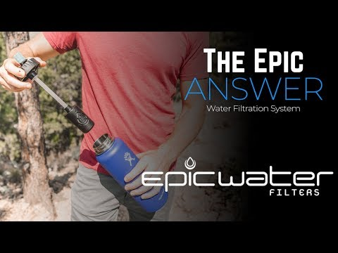 The Answer | Hydro Flask 40 & 32 oz | Nalgene 32 oz wide mouth Compatible Water Filter System