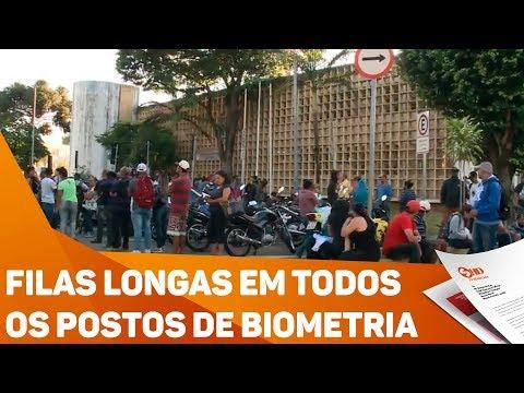 Filas longas em todos os postos de biometria - TV SOROCABA/SBT