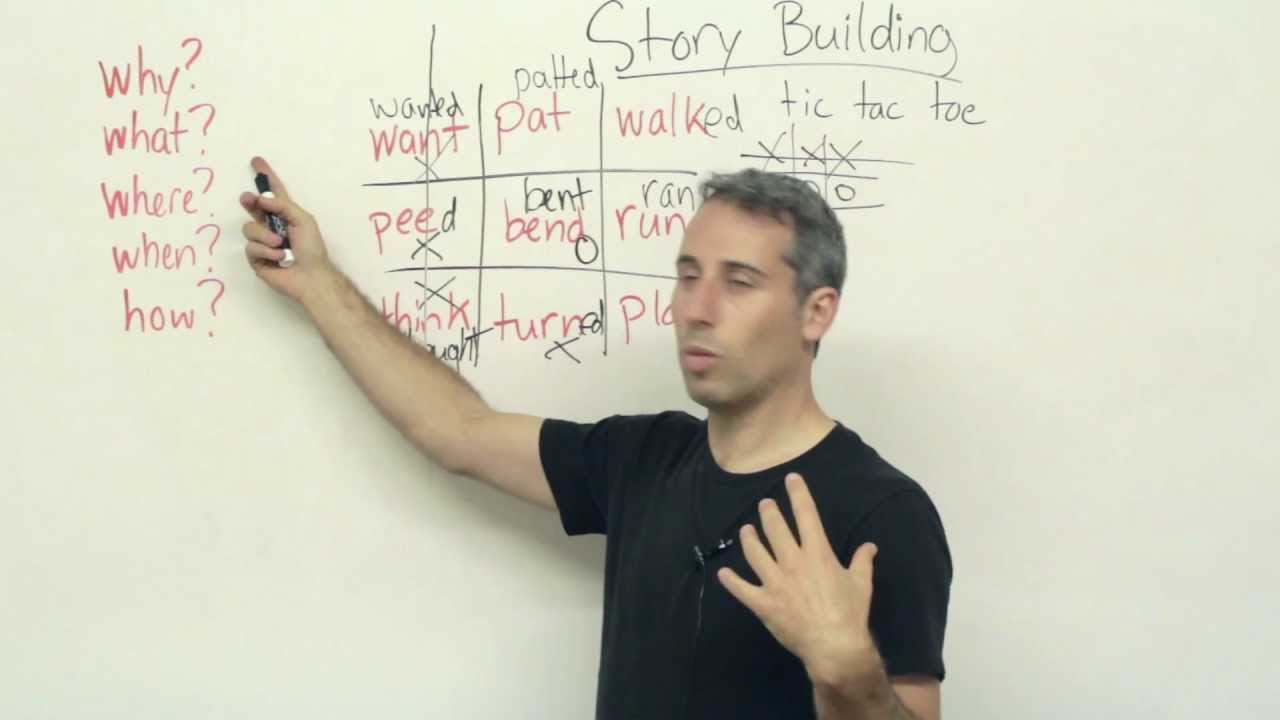 How to improve your English with story building