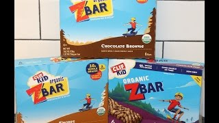 CLIF Kid Organic ZBar: Chocolate Brownie, S'mores and Chocolate Chip Review