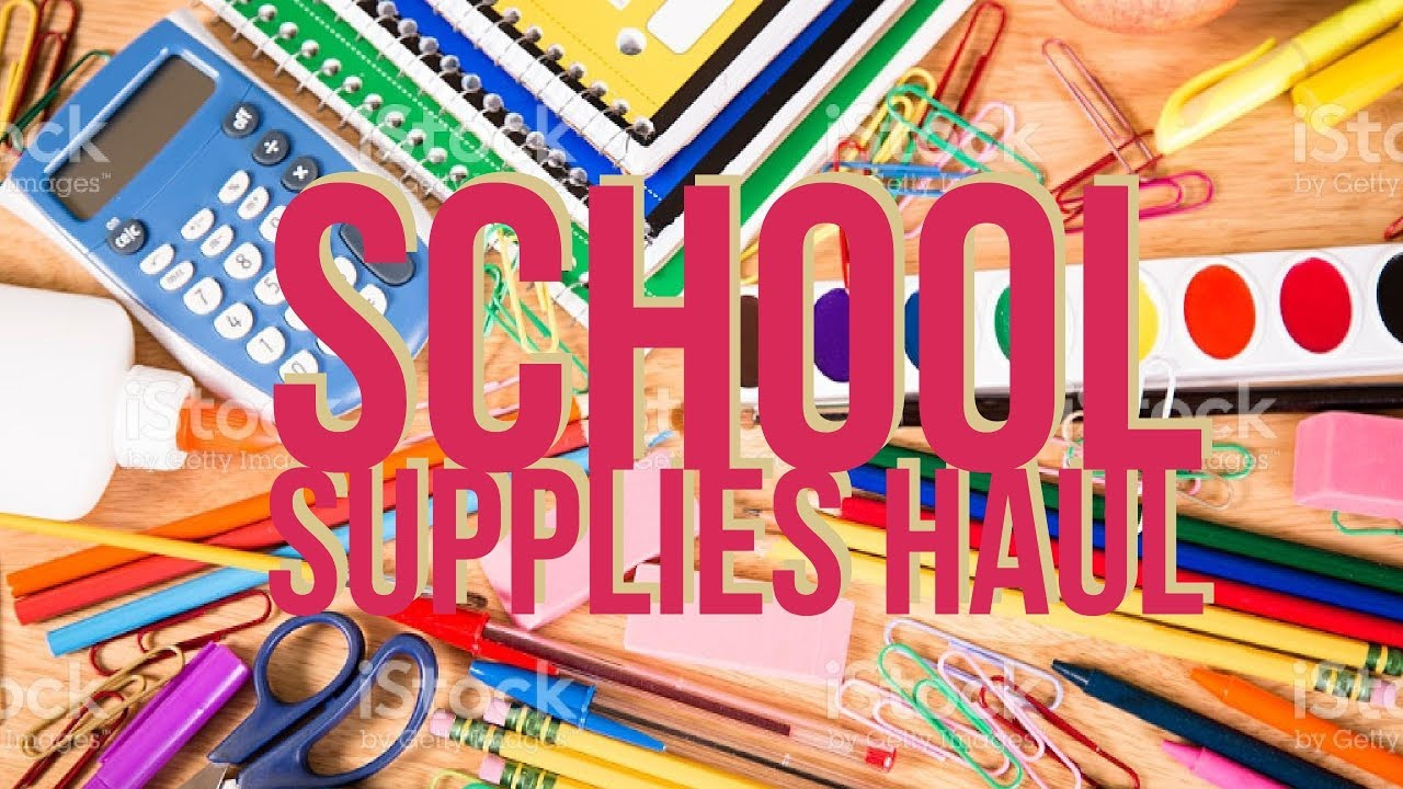 cute school supplies haul college edition happy planner youtube
