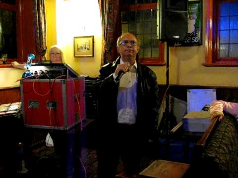 Tony singing Two Pints Of Lager at The Orchard karaoke