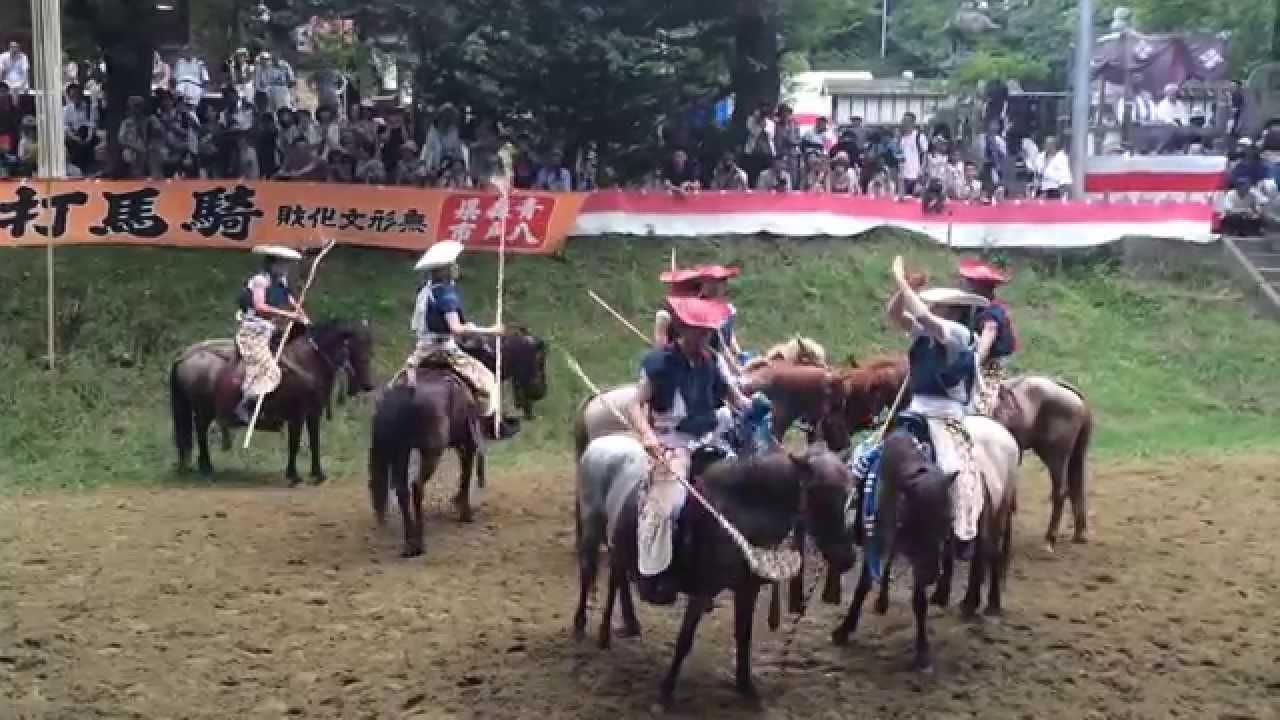 2015加賀美流騎馬打毬 競技風景映像 - YouTube