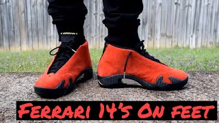 Throwback Thursday Jordan Retro 14 Ferrari On Feet Youtube