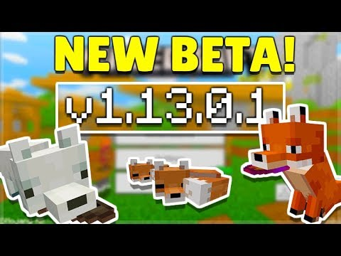 MCPE 1.13.0.1 BETA NEW FOX MOBS! Minecraft Pocket Edition Foxes & Working Structure Blocks!