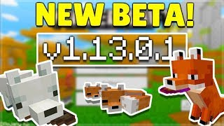 Download lagu MCPE 1 13 0 1 BETA NEW FOX MOBS Minecraft Pocket Edition FoxesWorking Structure Blocks MP3