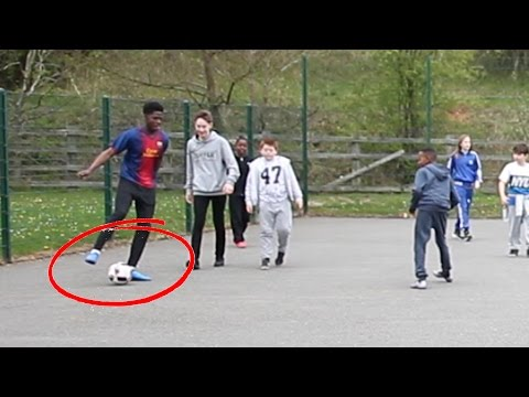 PLAYING KIDS AT FOOTBALL!! - the 8 Year Old LIONEL MESSI??