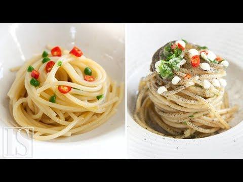 Spaghetti aglio, olio e peperoncino: originale vs gourmet - Vitale, Bianco, Abbate