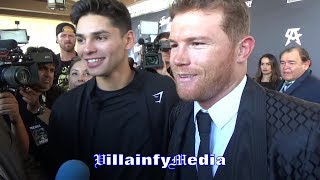 CANELO & RYAN GARCIA EMBRACE EACH OTHER HEADING INTO NOVEMBER 2ND