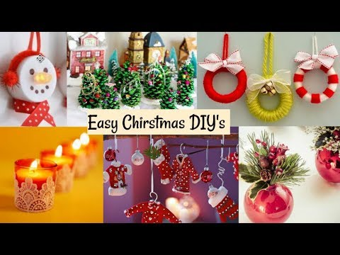 Best out of waste diy christmas decoration ideas youtube for Decoration ideas from waste