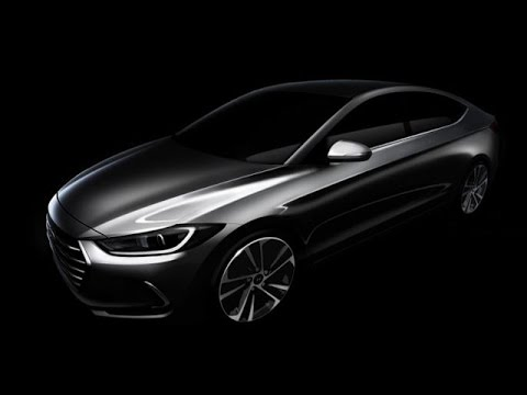 new car launches by hyundai2016 Hyundai Elantra Teaser  Upcoming Cars 2016  YouTube
