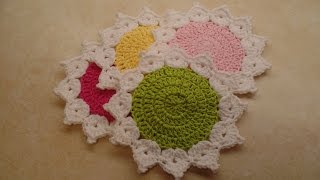 Easy How To Crochet The Queens Crown Coaster Set Bagoday crochet tutorial #327