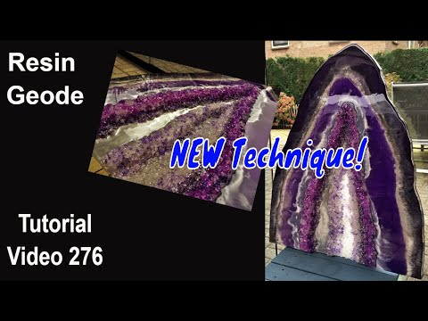 Resin Geode Tutorial/ step by step/ NEW Technique/ Depth with 1 Resin Layer