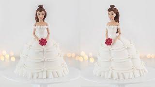 Disney Princess: Belle Doll Cake  Wedding Dress  Tan Dulce