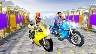 Bike Racing Games - Impossible Bike Game - Sky Bike Stunts - Gameplay Android free games