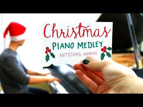 Christmas Piano Medley: Notecard Improv - YoungMin You
