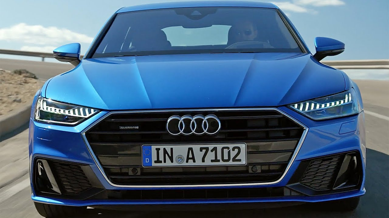 audi a7 sportback 2018 features design driving youtube. Black Bedroom Furniture Sets. Home Design Ideas