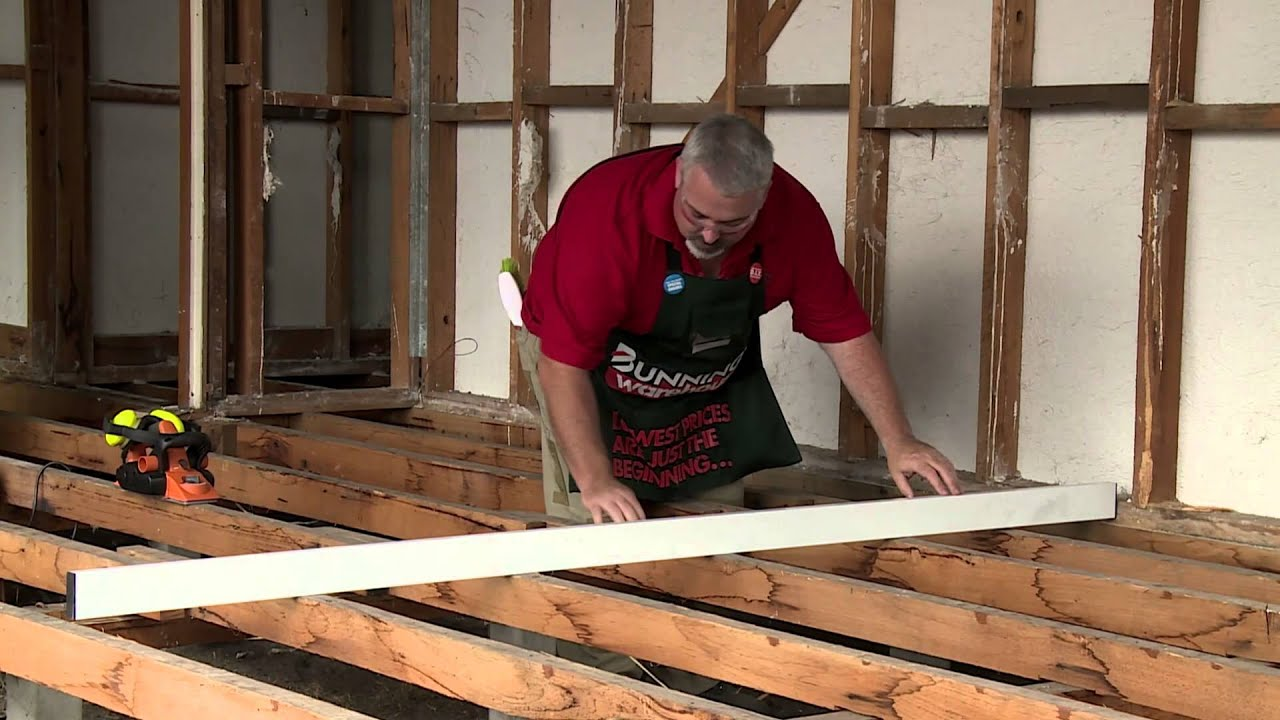 How To Level A Subfloor DIY At Bunnings YouTube - Subfloor leveling techniques
