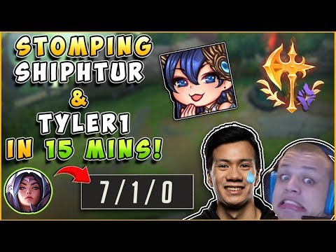 IRELIA GOD STOMPING TYLER1 AND SHIPHTUR IN 15 MINS? - League of Legends thumbnail