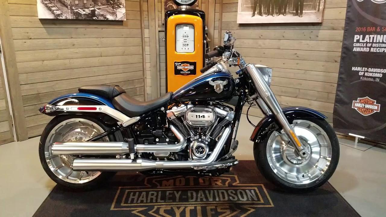 2018 Softail Fat Boy FLFBS 115th anniversary legend blue vivid black for  sale Harley Davidson Kokomo