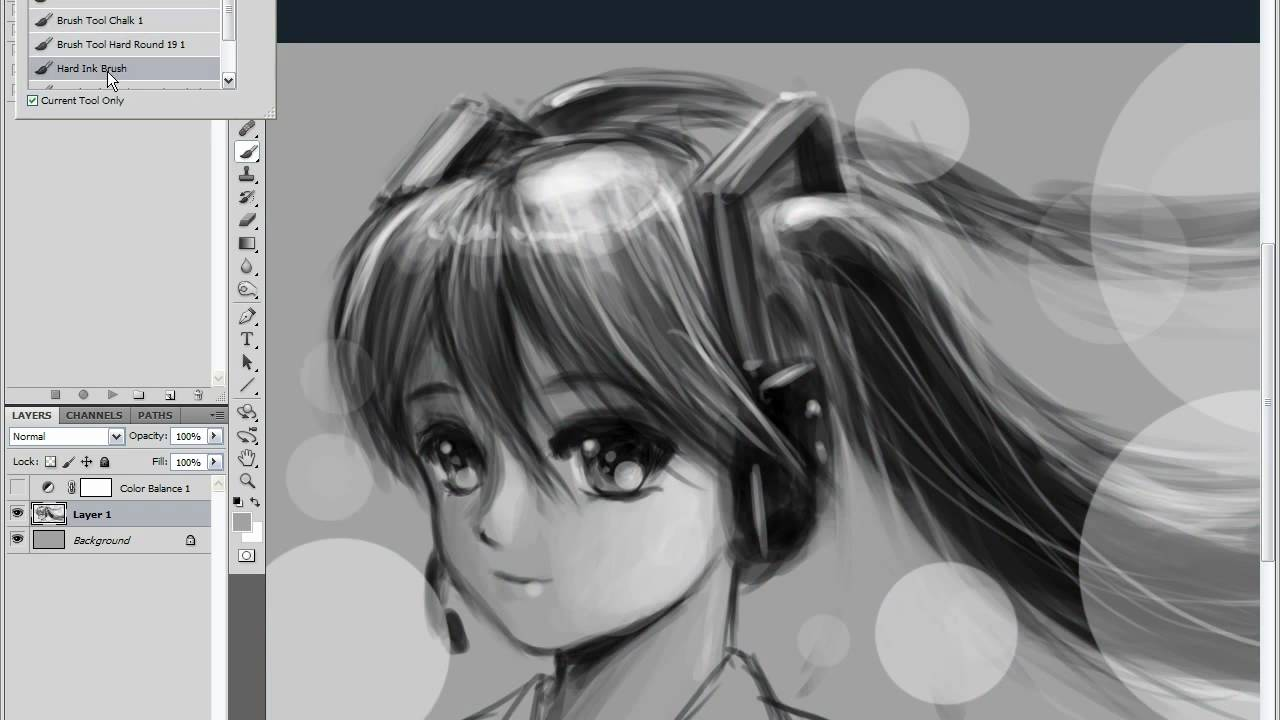 photoshop miku hatsune speed paint in 36mins how to turn black and white into color - Turn Black And White Photo Into Color