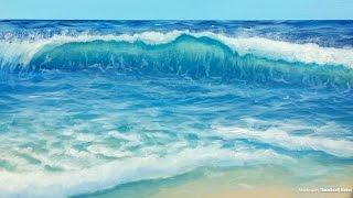 Painting a Beach Wave w/ Sea Foam