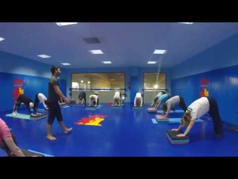 Metodo Pilates // Utilizando step para modificar los ejercicios //Clase con Edgar