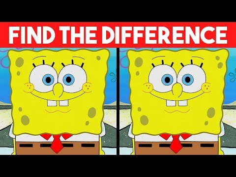 Bet you can't FIND THE DIFFERENCE! | 100% FAIL | Spongebob Cartoon photo Puzzle