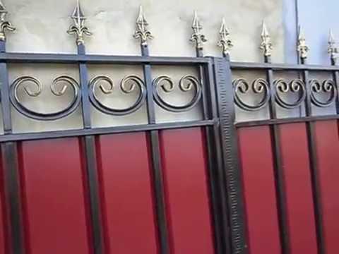 Недорого и Красиво ворота с ковкой.+калитка