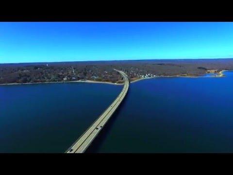 Jamestown Bridge Via Drone
